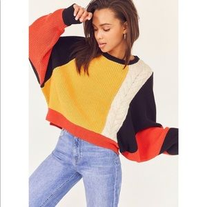 Urban Outfitters Ecote Colorblock Sweater Size S